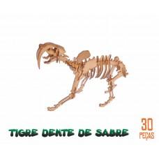 Quebra-cabeça 3D Tigre-de-dente-de-sabre