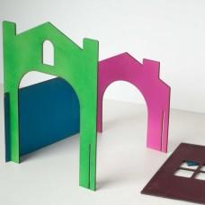 Casinha com paredes ajustáveis