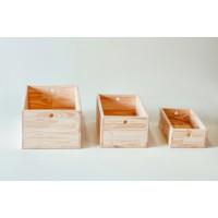 Trio de caixas Pikler